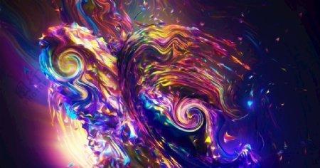 抽象液化炫酷背景图片