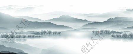 云雾山水图片