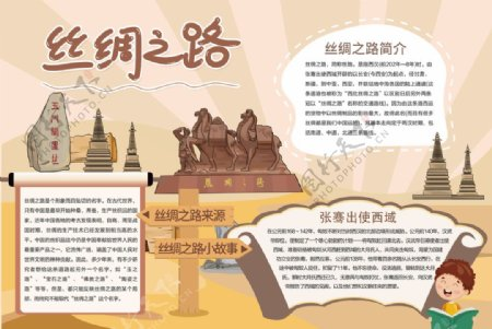 丝绸之路小报图片