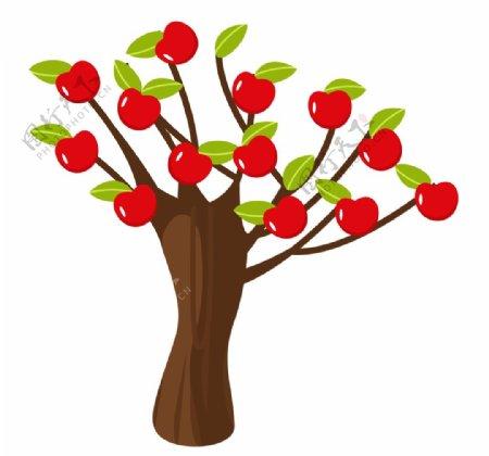 挂满苹果的苹果树图片