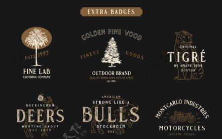 素描英语logo标题设计图片