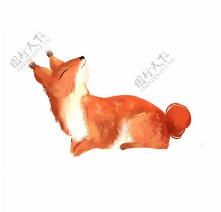 手绘卡通狐狸元素图片