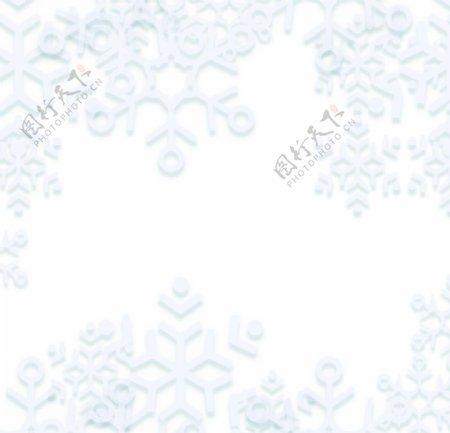 冬季雪花图片