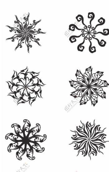 圆形复古花纹图片