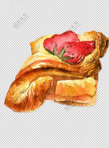 草莓面包图片